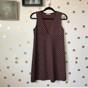 Zara Plunging Neck Line Shift Dress